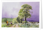 Country Road with Boys on Bicycles by Corbis