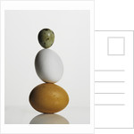 Quail and chicken eggs by Corbis
