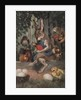 Postcard of Easter Rabbit Decorating Eggs by Corbis