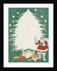 Greeting Card with Santa Claus and Christmas Tree by Corbis