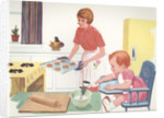Illustration of Mother Baking Cookies by Corbis