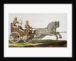 Print of Ancient Syrian Chariot by Corbis