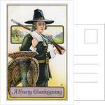 A Hearty Thanksgiving Postcard by Corbis