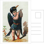 Illustration of Child Dressed in Blue Whistling Thrush Costume by Corbis