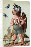 Illustration of Child Dressed in Sparrow Costume by Corbis