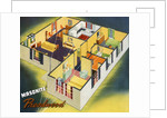 Illustration of Ideal American House Plan by Corbis