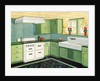 Illustration of Ideal American Kitchen by Corbis