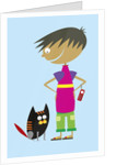 Boy With Cat by Corbis