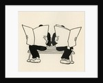 Illustration of Two Men Reading Newspapers on Park Bench by Boris Artzybasheff
