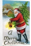 A Merry Christmas Postcard by Corbis