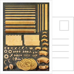 Illustration of Fifty Different Varieties of Pasta by Corbis
