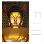 Detail of Sakyamuni Buddha Statue in Main Hall of Jogyesa Temple by Corbis