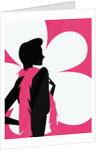 Woman with a pink scarf by Corbis