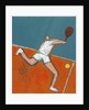 Man Playing Tennis by Corbis