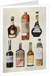 Illustration of bottles of liqueurs by Corbis