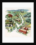 View of small American town by Corbis