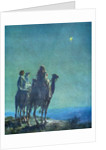 Illustration of Three Wise Men Viewing Star of Bethlehem by W.L. Taylor