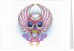 Day of the Dead skull with wings by Corbis