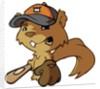 Squirrel Baseball Player by Corbis