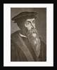 Engraved portrait of John Calvin by Corbis