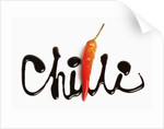 The word chilli written in chocolate by Corbis