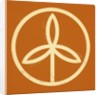 Plant in a circle symbol by Corbis