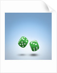 Green dice by Corbis