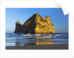 Rock formation off Wharariki Beach in New Zealand by Corbis