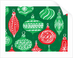 Red and Green Christmas Ornaments by Corbis