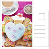 Iced and decorated holiday cookies by Corbis