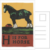 H is for horse by Corbis