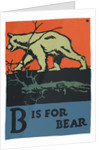 B is for bear by Corbis