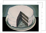 Chocolate devil's food cake with vanilla icing by Corbis