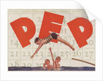 Pep advertisement with diving boy by Corbis