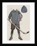 Paper doll with hockey clothes by Corbis