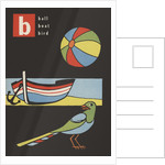 B is for ball boat bird by Corbis