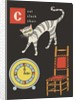 C is for cat clock chair by Corbis