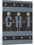 Personified letters G H I by Corbis