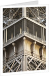 Detail of viewing gallery Eiffel tower, Paris, France by Corbis