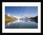 Wetterhorn , Schreckhorn and Finsteraarhorn reflecting in Lake Bachalp by Corbis