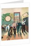 Men in bowling alley by Corbis