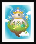 Crown on a teapot shaped house by Corbis