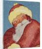 Santa Claus in snowfall by Corbis