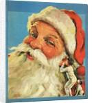 Boy whispering into Santa's ear by Corbis