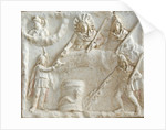 Roman relief of Mithras, Selene, Cautes and Cautopates by Corbis