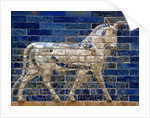 Detail of auroch on Ishtar Gate at Pergamon Museum by Corbis