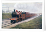 Postcard showing the Leeds and Bradford Express of the Midland Railway by Corbis