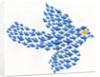 Nonconformist bird flying against the flock by Corbis