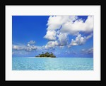 Idyllic atoll in the Maldives by Corbis