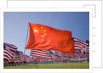 Chinese and American flags during 3000 Flags for 9-11 tribute by Corbis